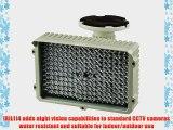 R-Tech IR Illuminator with 114 pcs IR LED Water Resistant Indoor/Outdoor Use IR distance of