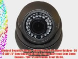Evertech Security Camera - Dome Camera for Indoor Outdoor - 36 Ir LED 1/3'' Sony Super Had