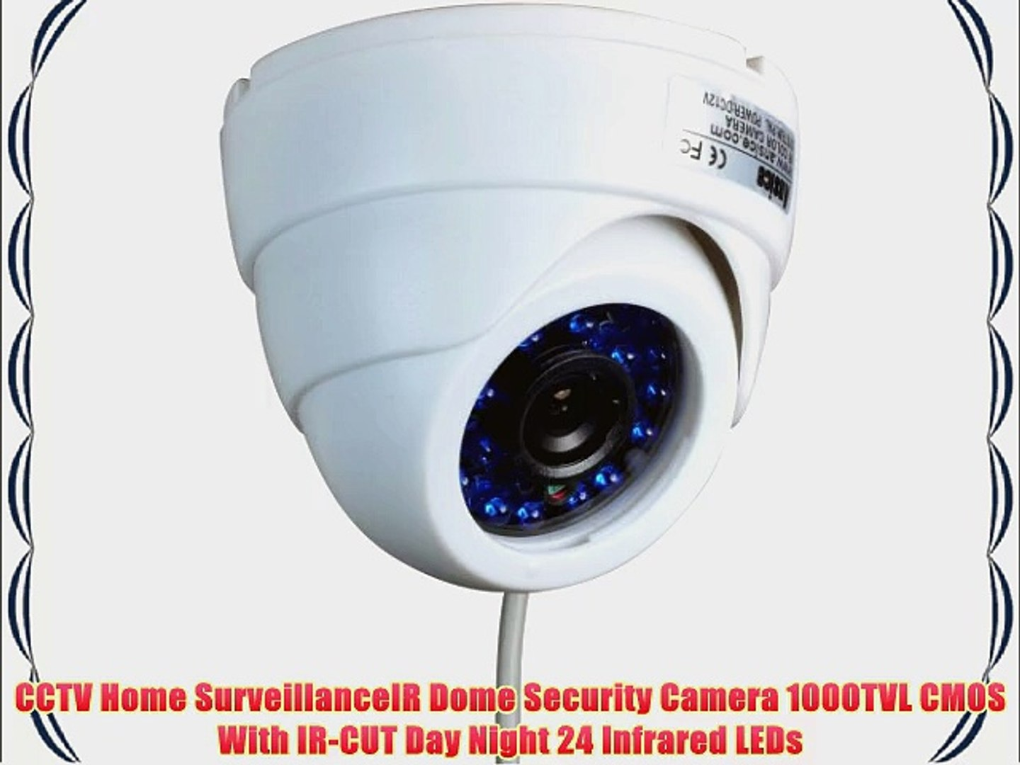 "Audio Dome camera 800TVL 1//4/"" CMOS IR-CUT 3.6mm lens 24IR cctv security camera"
