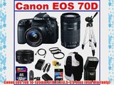 Canon EOS 70D DSLR Camera with 3 Canon Lenses Pro Pack: Includes - Canon EF-S 18-135mm f/3.5-5.6