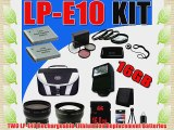 TWO LP-E10 Lithium Ion Replacement LPE10 Battery for Canon EOS Rebel T3 Digital SLR Camera