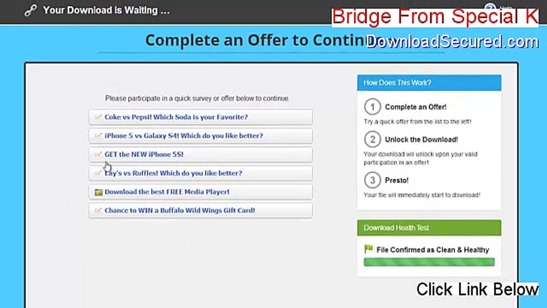 bridge from special k free download