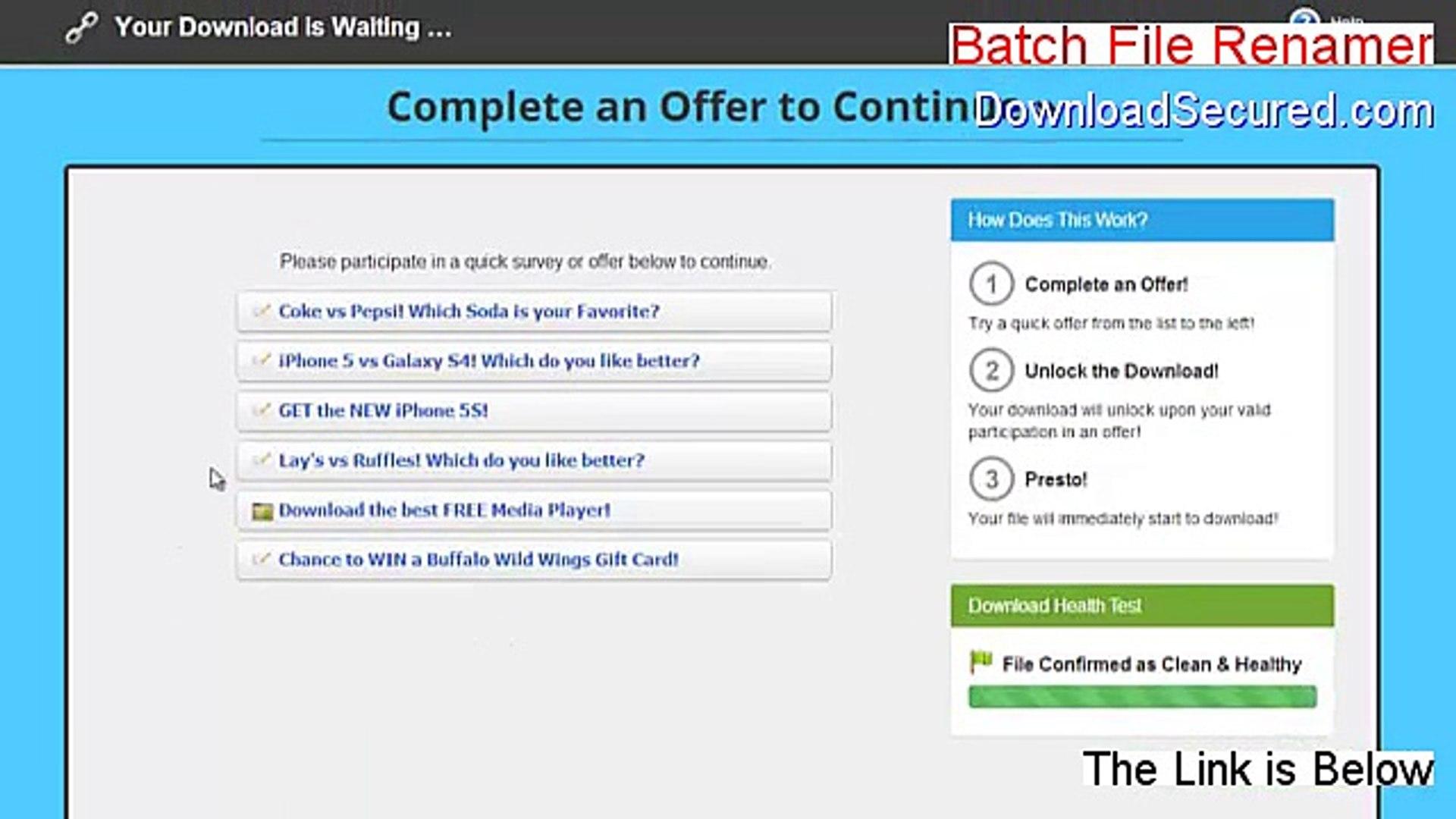 Batch File Renamer Keygen - Risk Free Download (2015)