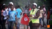مباشرةً من ملعب باتا إجراءات أمنية مكثفة  قبل لقاء تونس و غينيا الإستوائية