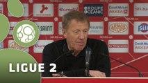 Conférence de presse Stade Brestois 29 - US Orléans (1-1) : Alex  DUPONT (SB29) - Olivier FRAPOLLI (USO) - 2014/2015