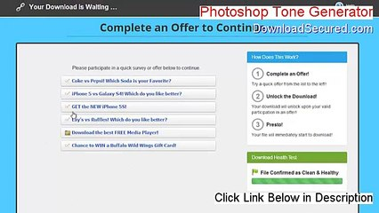 Photoshop Tone Generator (32bit Edition) Full - Photoshop