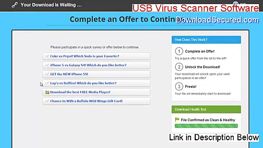 USB Virus Scanner Software Full Download [Instant Download]