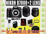Nikon D7000 16.2MP DX-Format CMOS Digital SLR w/ Nikon 55-200mm f4-5.6G ED AF-S DX Nikkor Zoom