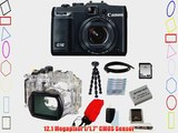 Canon PowerShot G16 Digital Camera with Canon Waterproof Case WP-DC52 for PowerShot G16 and
