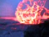 فيديو نادر جدا من فوه بركانية تقذف حممها .. نعوذ بالله من النار