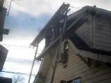Removing Sagging NJ Roof Overhang 973-487-3704-Damaged Eaves Replacement  & repair-paterson nj roofing-passaic county roofing contractor-replace-removal-repair job-installation-brackets-new overhang construction-new jersey roof companies