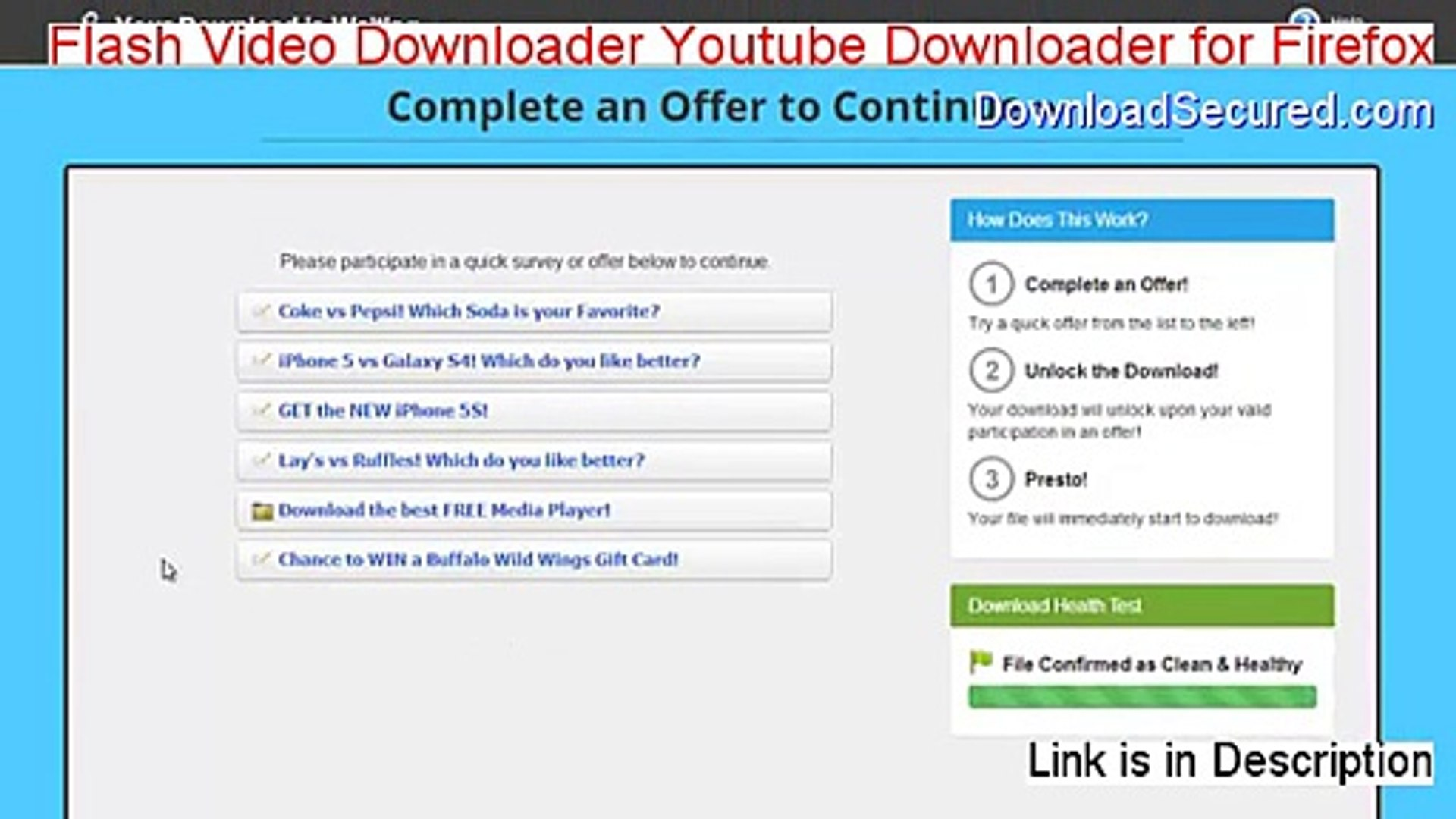 Flash Video Downloader Youtube Downloader for Firefox Download Free  [Download Here]