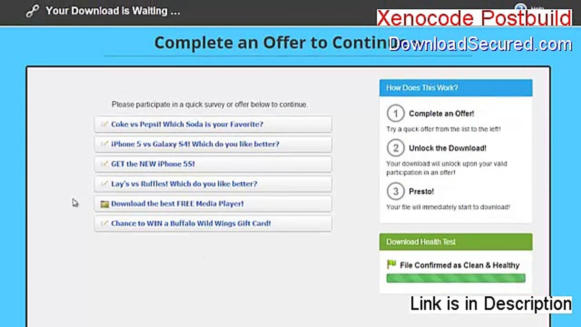 xenocode postbuild 2009 crack