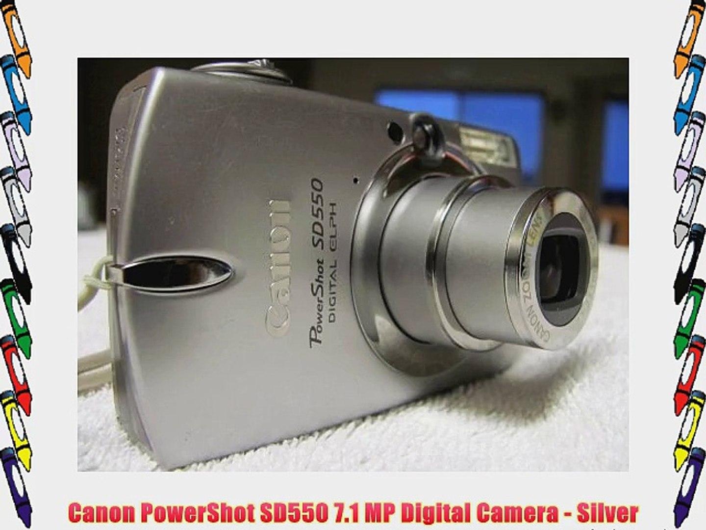 Canon Powershot Sd550 7 1 Mp Digital Camera Silver Video Dailymotion
