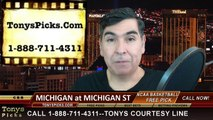 Michigan St Spartans vs. Michigan Wolverines Free Pick Prediction NCAA College Basketball Odds Preview 2-1-2015