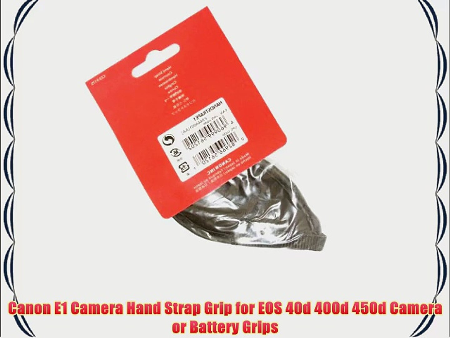 Canon E1 Camera Hand Strap Grip for EOS 40d 400d 450d Camera or Battery  Grips