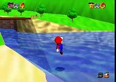 Super Mario 64 - Outside the Castle Freerun/Freeplay (TAS) with the 1996 BETA Life HUD from E3 and Gameshark