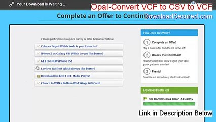 Opal-Convert VCF to CSV to VCF (vCard) Free Download - Risk