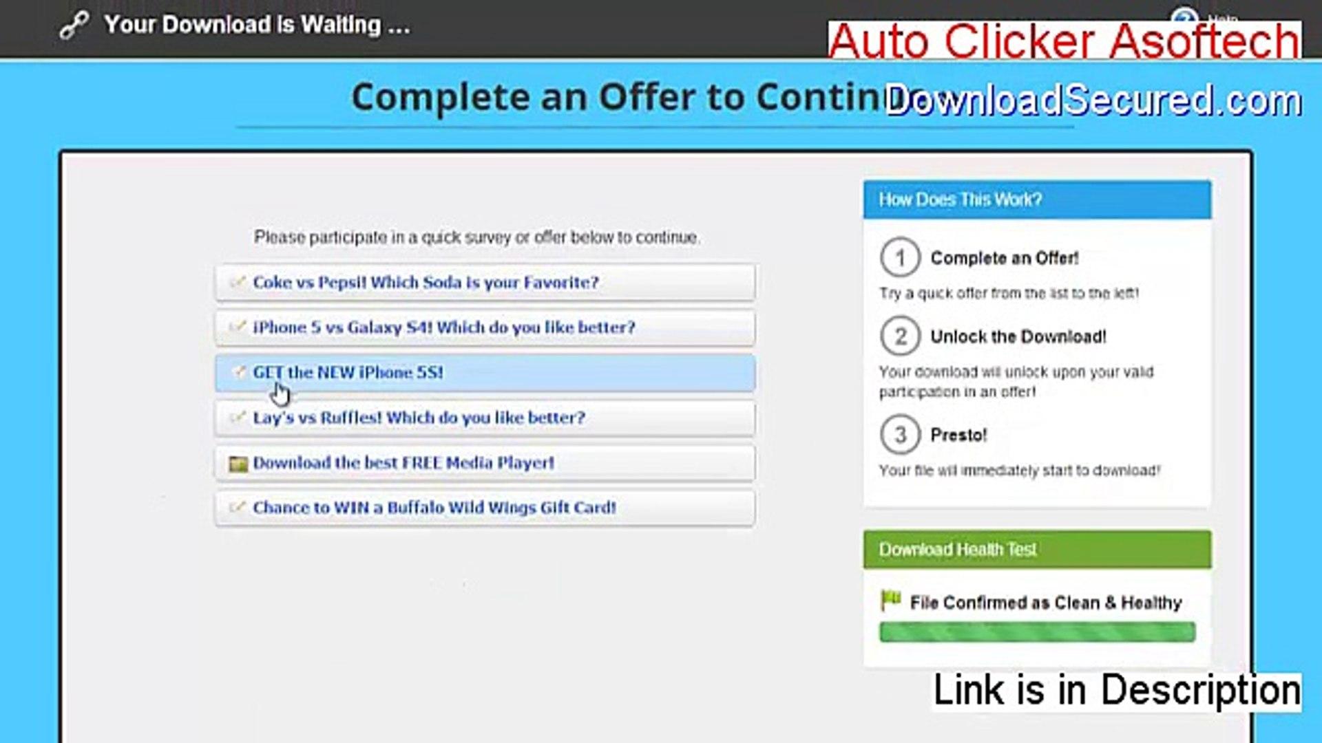 Auto Clicker Asoftech Crack [Instant Download 2015]