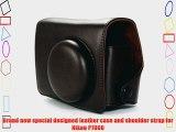 COSMOS Brown Leather Case Cover Bag For Nikon P7000 Camera   Cosmos cable tie