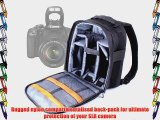 DURAGADGET Practical Black And Grey Backpack For Canon EOS 550D EOS 6000 Water Resistant