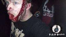 Un gars très content d'être en vie après un crash très violent!