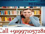 Get enrolled with our distance learning Courses (All PG Courses)