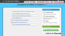 Print HTML ActiveX DLL for Windows Download Free [print html activex dll for windows 1.0.0.11]