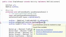 Android Application Development - 91 - Set WebView Client for a Brower app