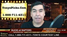 Toronto Raptors vs. Milwaukee Bucks Free Pick Prediction NBA Pro Basketball Odds Preview 2-2-2015