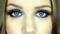 Glamorous Blue Smokey Eye | Double Winged Liner | Makeup Tutorial