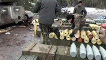 Ukraine television shows government troops firing