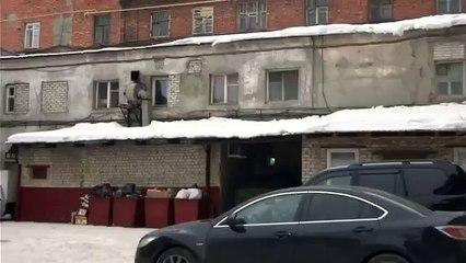 De la neige orange en Russie