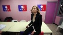 La numéro 2 de l'UMP, Nathalie Kosciuko-Morizet à la Maison des associations à Béthune hier soir pour le lancement de la campagne du canton de Béthune