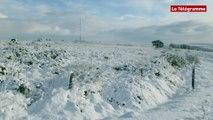 Neige. Blancheur et belles lumières sur les Monts-d'Arrée