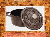 Staub 1102618 Round Cocotte Pot 26 cm Graphite Grey