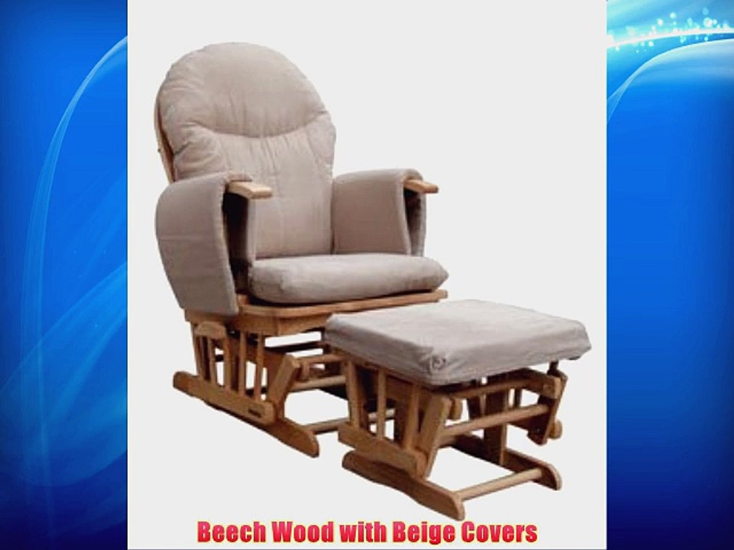 info for 76c8c f8e85 Habebe Glider Rocking Nursing Maternity Breastfeeding Recliner Chair with  footstool ***WITH