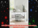 Large Mirrored Dressing Table / Desk - (Mirrored Valeria)