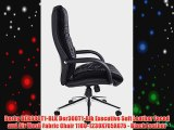Derby DER300T1-BLK Der300T1-Blk Executive Soft Leather Faced and Air Mesh Fabric Chair 1160-1230X765X675