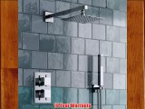 Thermostatic Mixer Shower Set 2 Way Valve with Square 8 Head   Hand Held