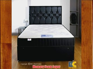Somnior Beds Backcare Divan bed complete set with mattress headboard and 4 drawers (Kingsize)