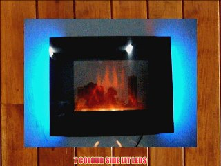 2015 7 COLOUR CHANGING LED WALL MOUNTED ELECTRIC FIRE WITH PEBBLE EFFECT!
