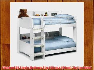 Julian Bowen Domino Single Bunk Bed Stone White