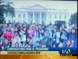"""La embajada de EE.UU lanza convocatoria para el programa """"Jóvenes embajadores 2015"""""""