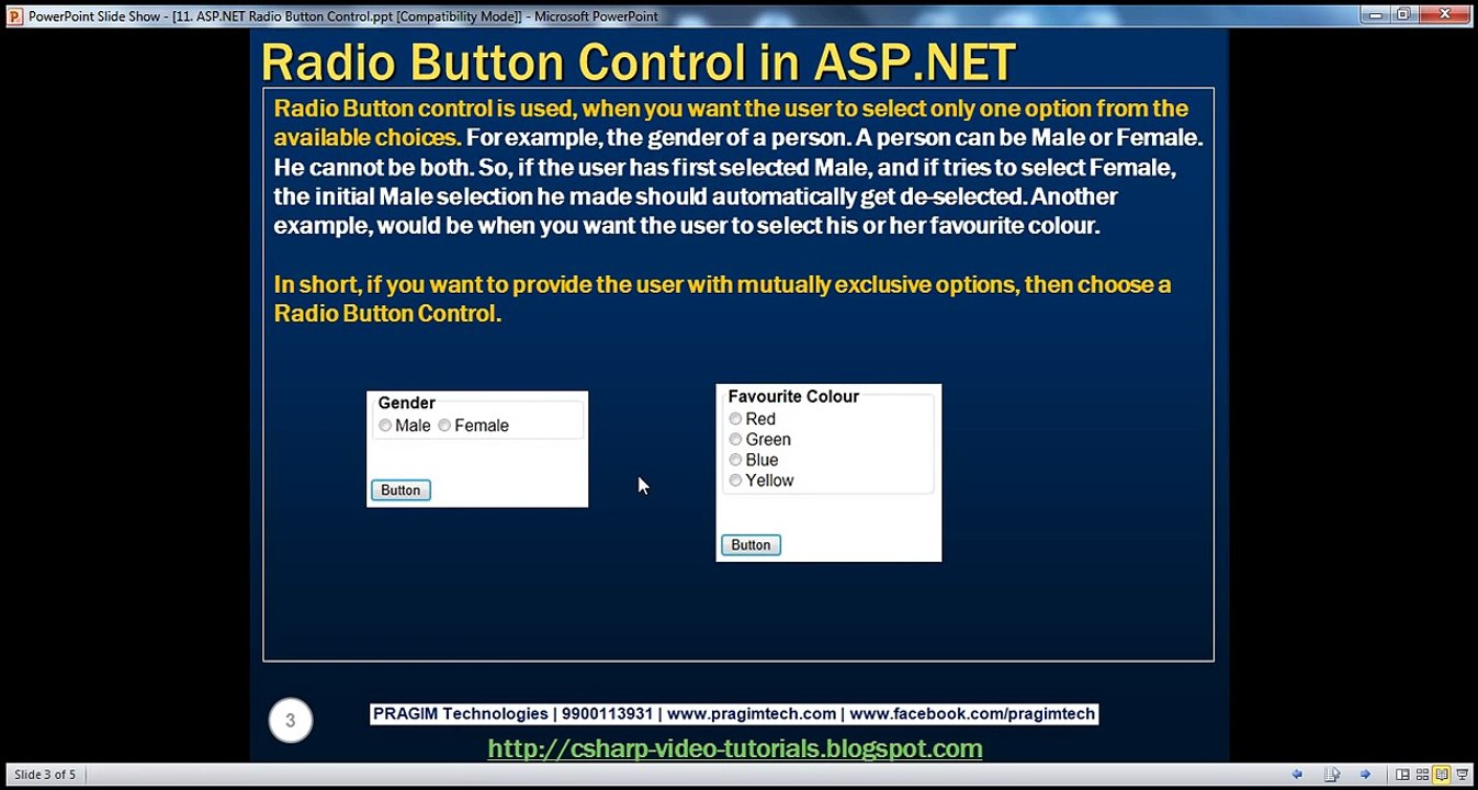 Active-Server-Pages-NET-ASPNET-Radio-Button-control-Step-by-Step-Lesson-11