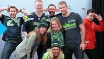 Chris Evans, Chris Pratt and Jimmy Fallon Photobomb Unsuspecting Football Fans