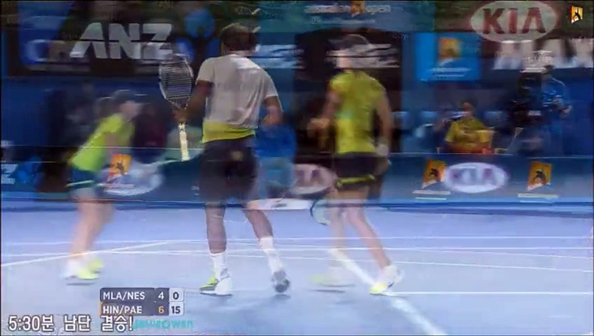 Hingis/Paes vs Mladenovic/Nestor 2015 AO Highlights