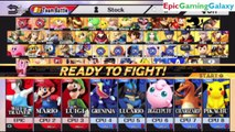 Wii Fit Trainer And Mario Brothers VS Pokemon Team In A Super Smash Bros. For Wii U 8 Player Team Battle