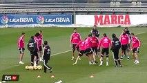 Isco fantastic back-heel nutmeg on Carvajal at Real Madrid training 2015