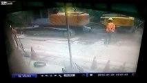 Water company worker dies in powerful water pipe explosion